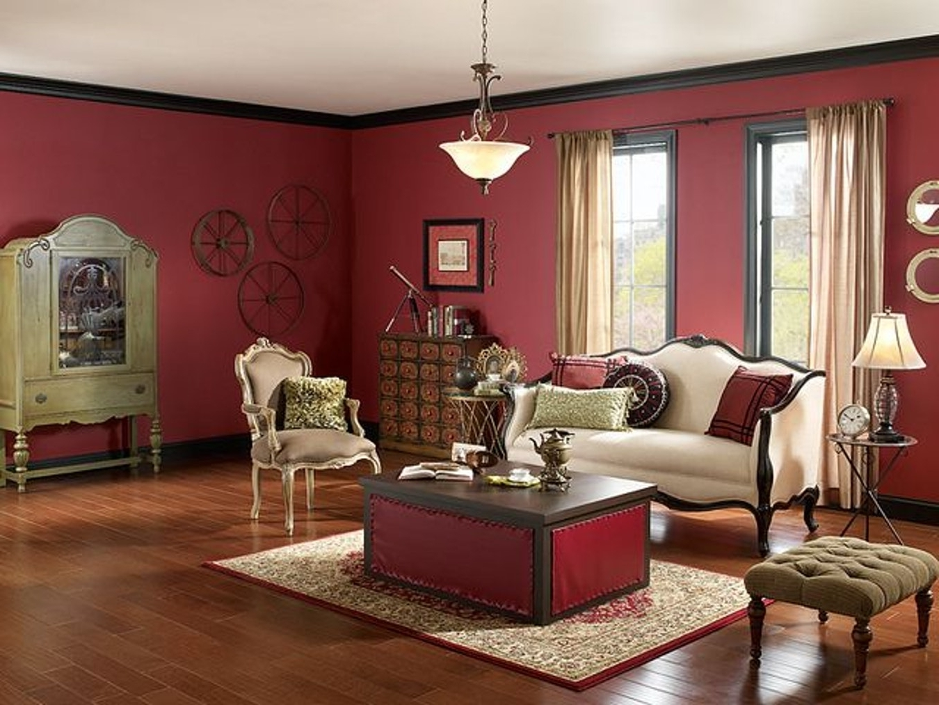 Brown Living Room Table Lamps With Regard To 2017 Interior : Burgundy Wall Living Room Cream Victorian Sofa White (View 4 of 15)