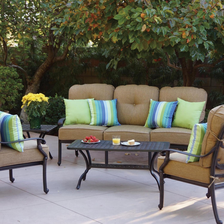 Cast Aluminum Patio Conversation Sets With Regard To Well Known Darlee Santa Monica 5 Piece Cast Aluminum Patio Conversation Seating (View 15 of 15)