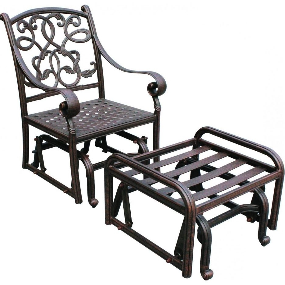 Chair : Popular Glider Outdoor Patio Furniture Interior Design For Newest Patio Rocking Chairs And Gliders (View 13 of 15)
