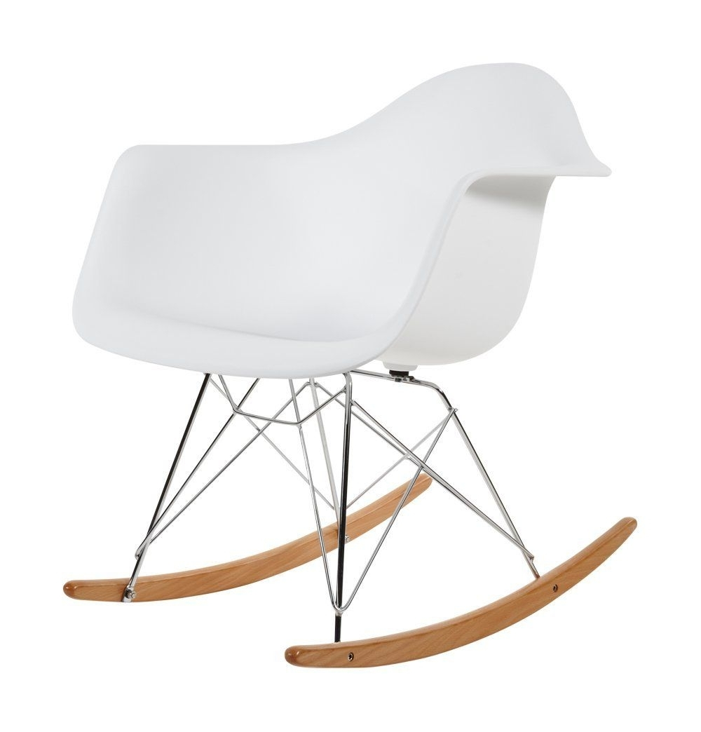 Charles Eames Rar Plastic Rocking Chair – White: Amazon.co (View 8 of 15)
