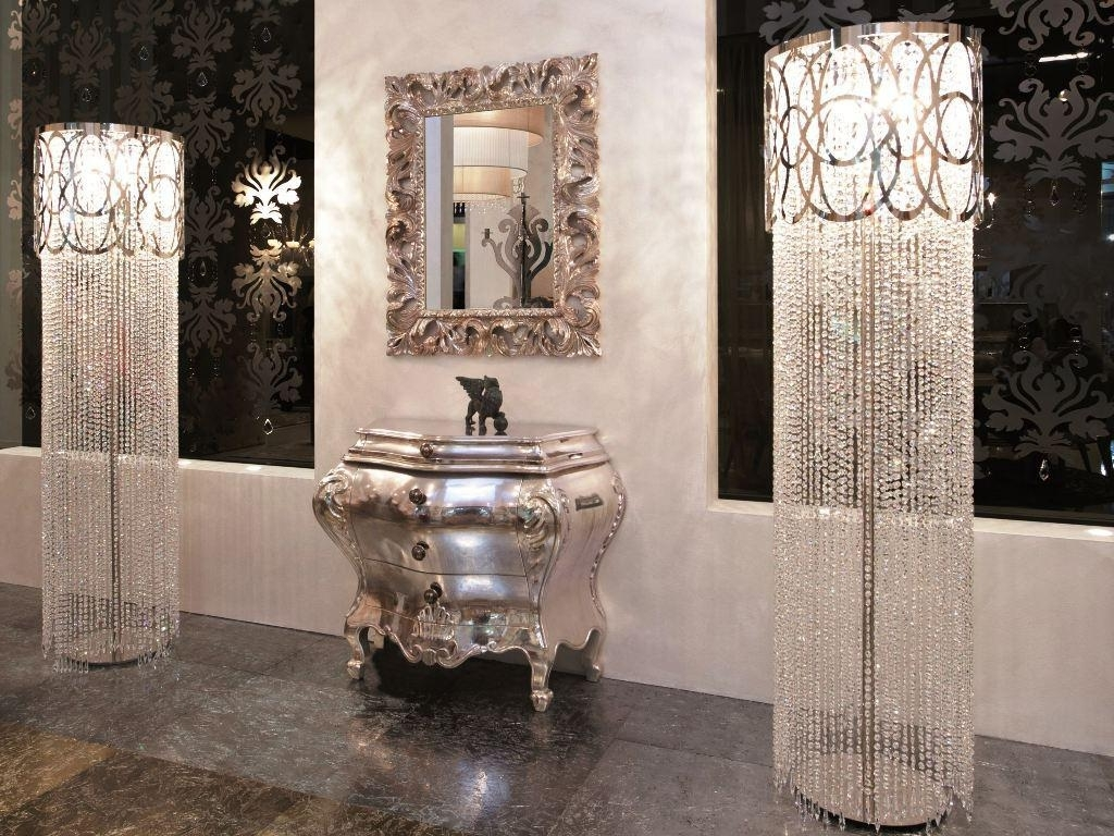 Clear Crystal Chandelier Table Lamp — Jherievans With Newest Crystal Living Room Table Lamps (View 2 of 15)