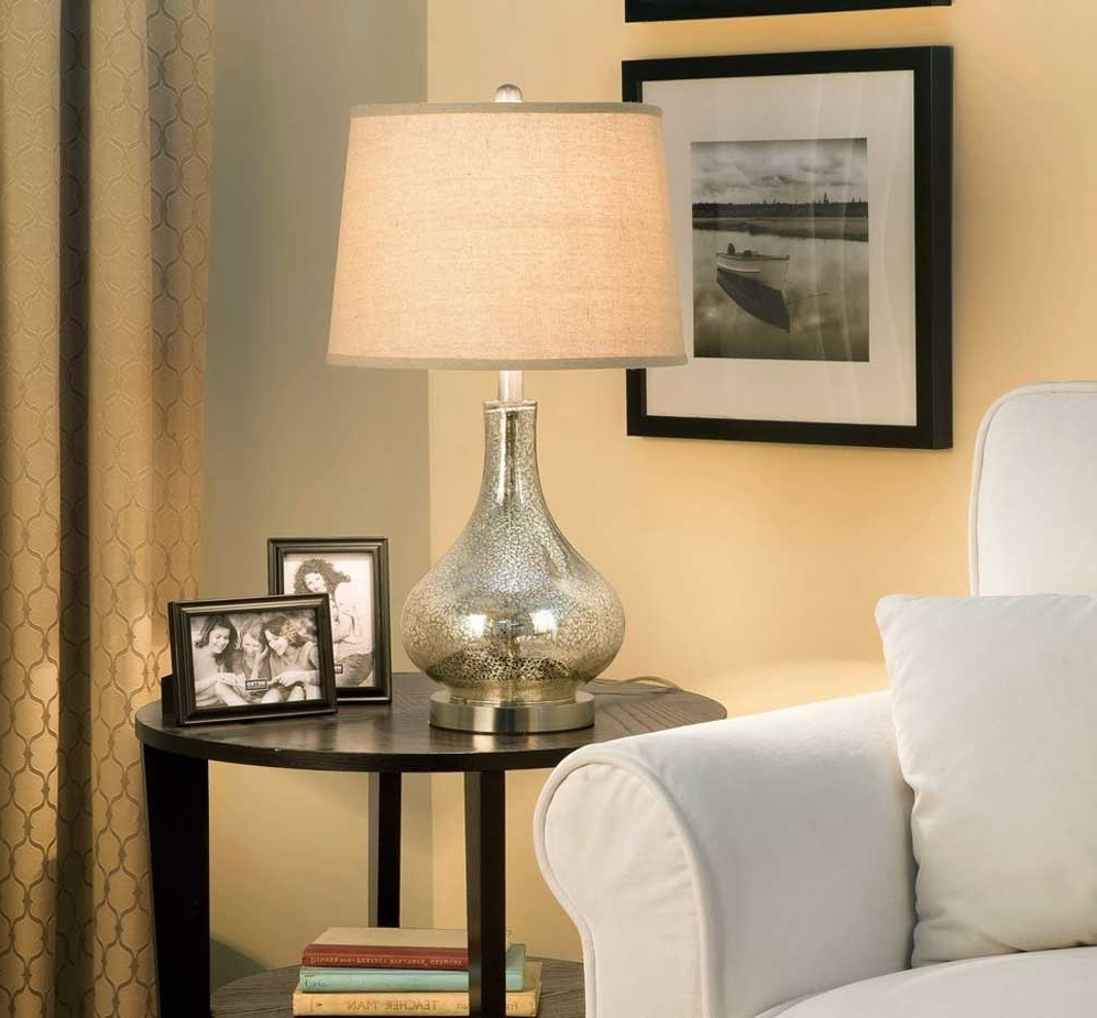 Featured Photo of Glass Living Room Table Lamps