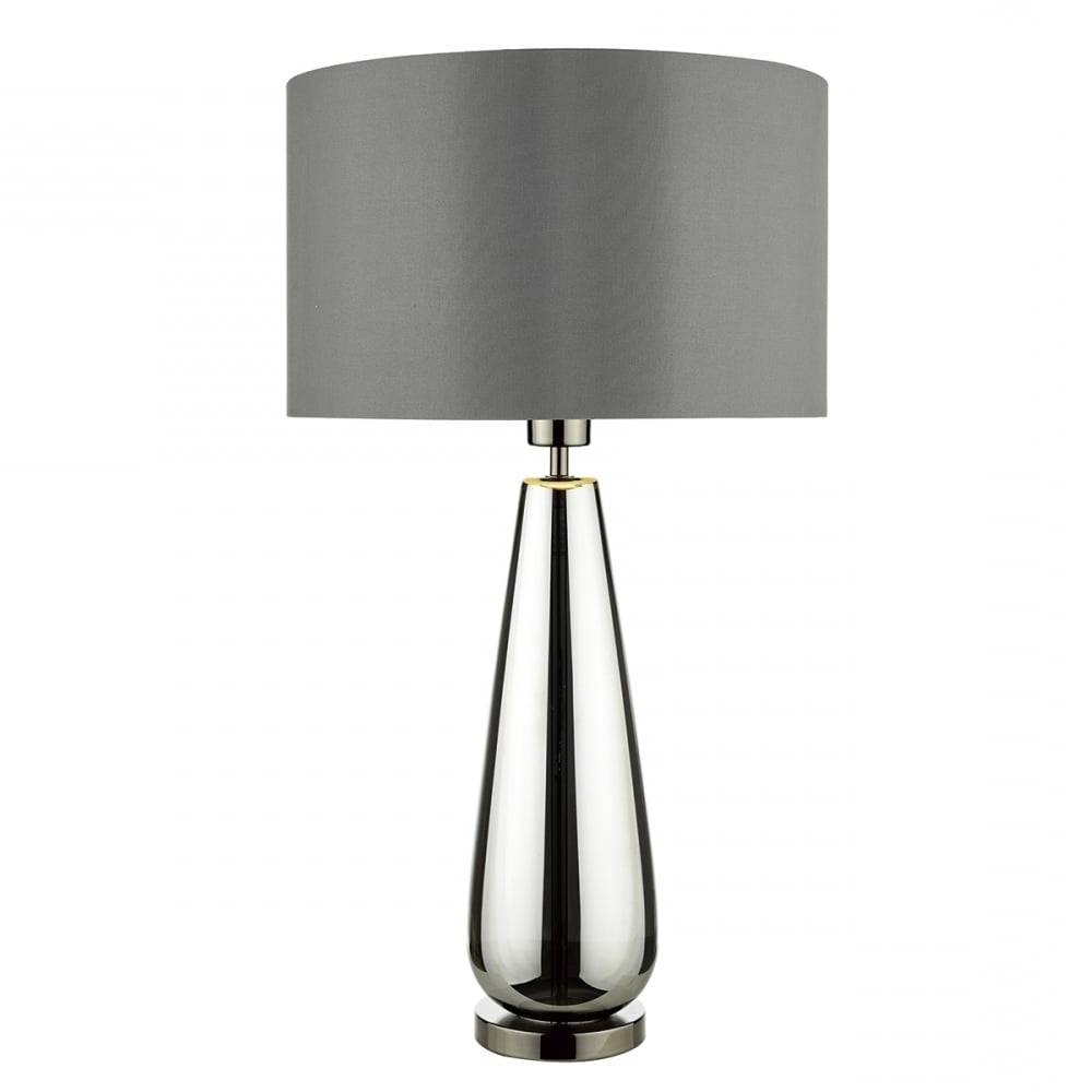 Clear Table Lamps For Living Room For Current Alluring Modern Glass Table Lamp 6 Clear With White Paper Shade And (View 3 of 15)