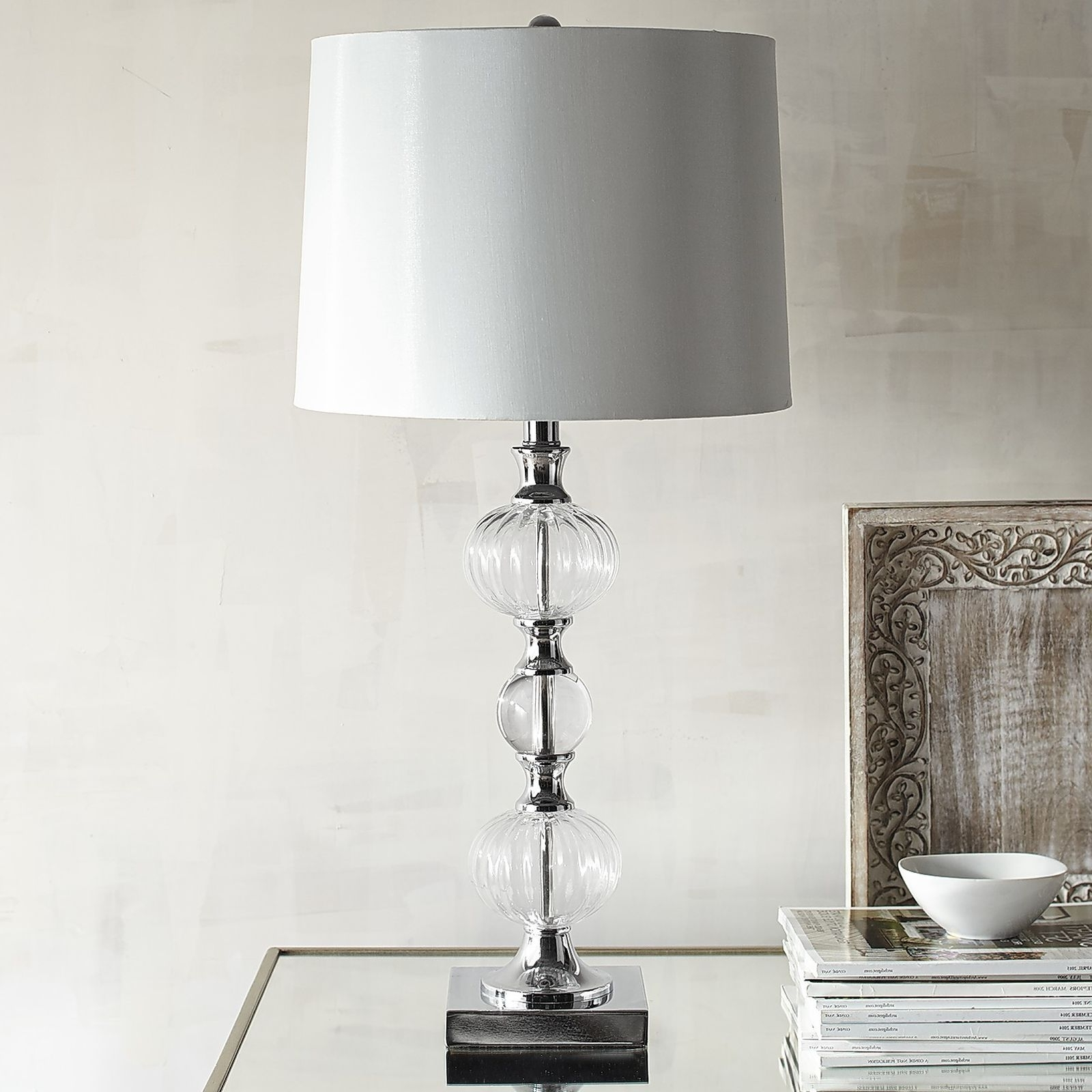 Clear Table Lamps For Living Room With Most Current 55 Most Blue Chip Chrome Table Lamp Tall Lamps For Living Room White (View 7 of 15)