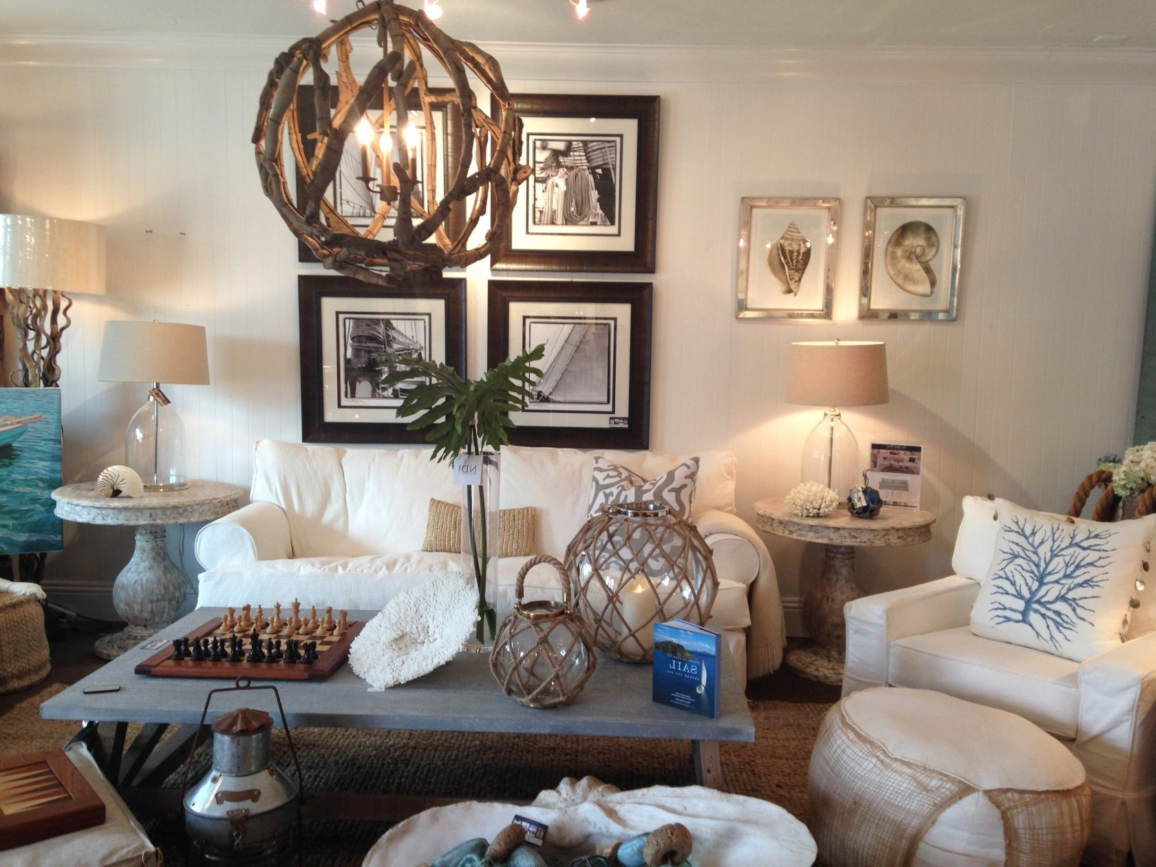 Coastal Living Room Table Lamps Inside Well Liked Design Tips: The Right Coastal Lighting (View 2 of 15)