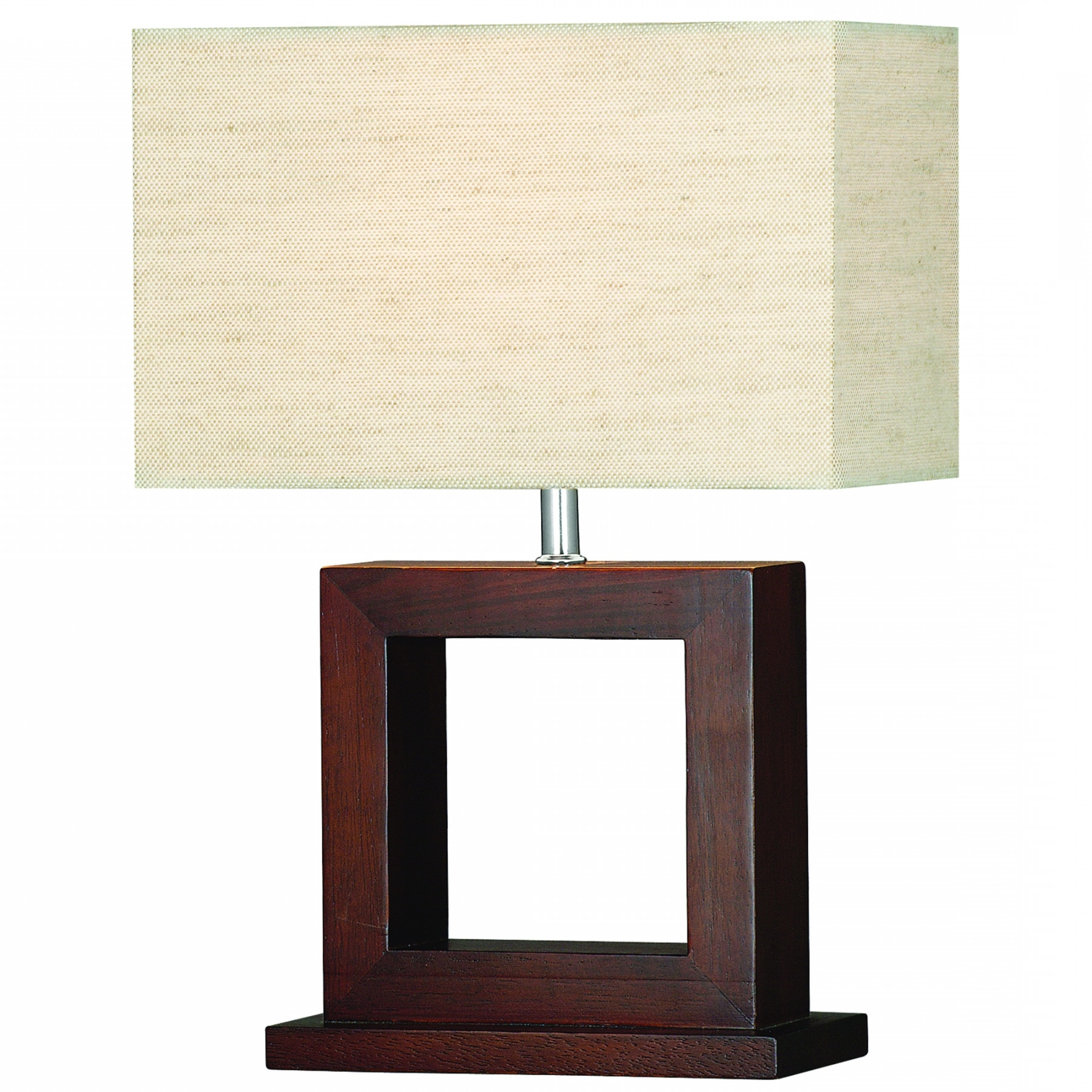 Cosmopolitan Dark Wood Table Lamp With Matching Oblong Shade Pertaining To 2018 Living Room Touch Table Lamps (View 1 of 15)