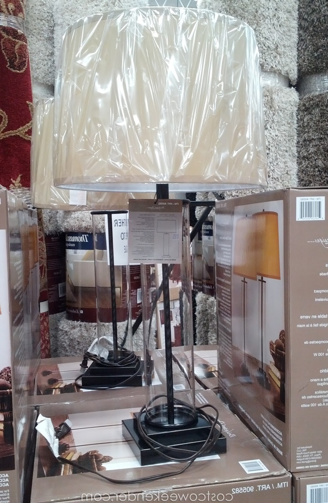 Costco Living Room Table Lamps Within Preferred Bridgeport Designs Glass Cylinder Table Lamps (Set Of 2) (View 4 of 15)