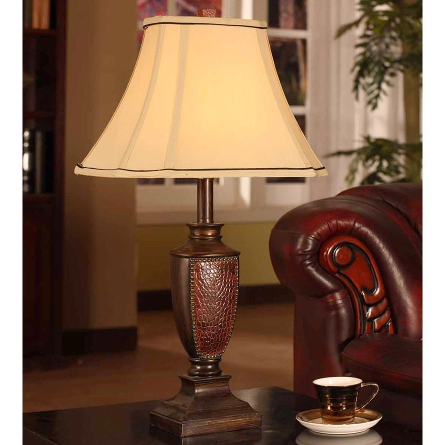 Crafted With A Brushed Red Finish, This Extravagant Table Lamp Is Throughout Newest Set Of 2 Living Room Table Lamps (View 4 of 15)
