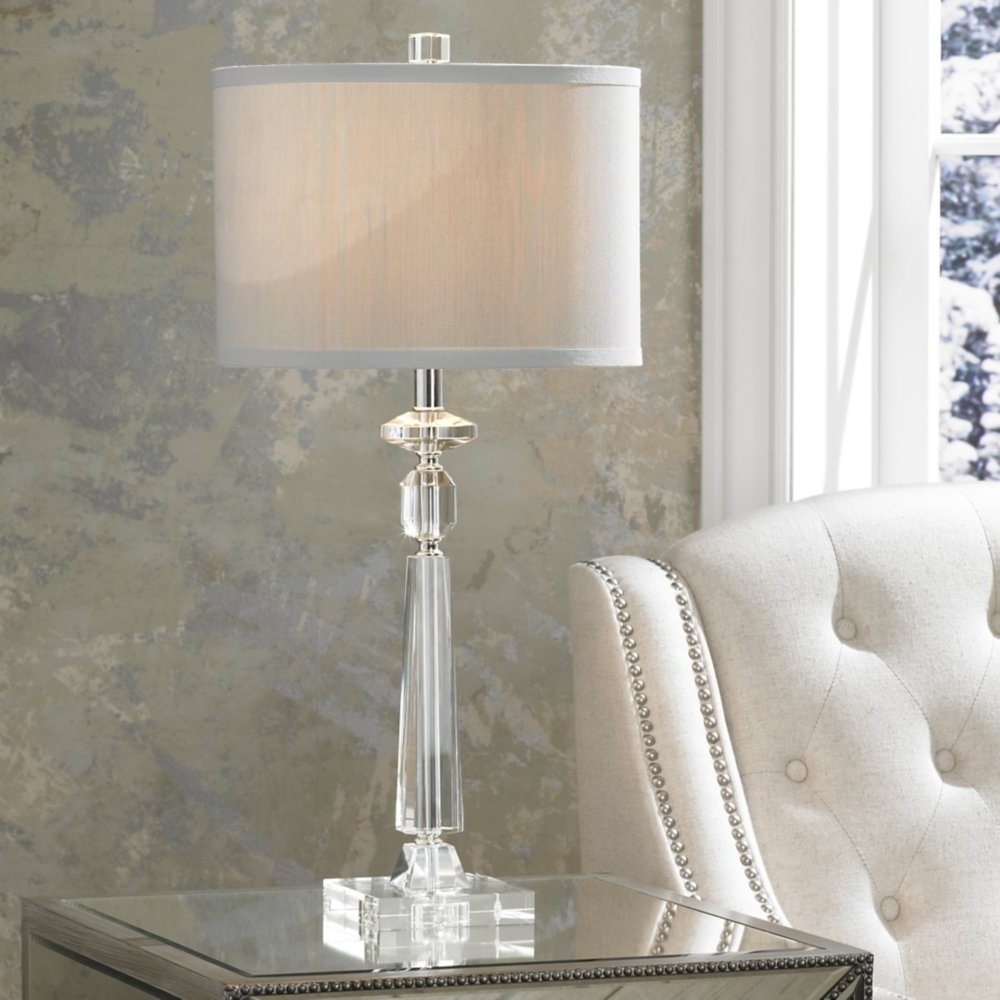 Crystal Table Lamps Living Room — Table Design : Very Accessible For Most Popular Crystal Living Room Table Lamps (View 6 of 15)