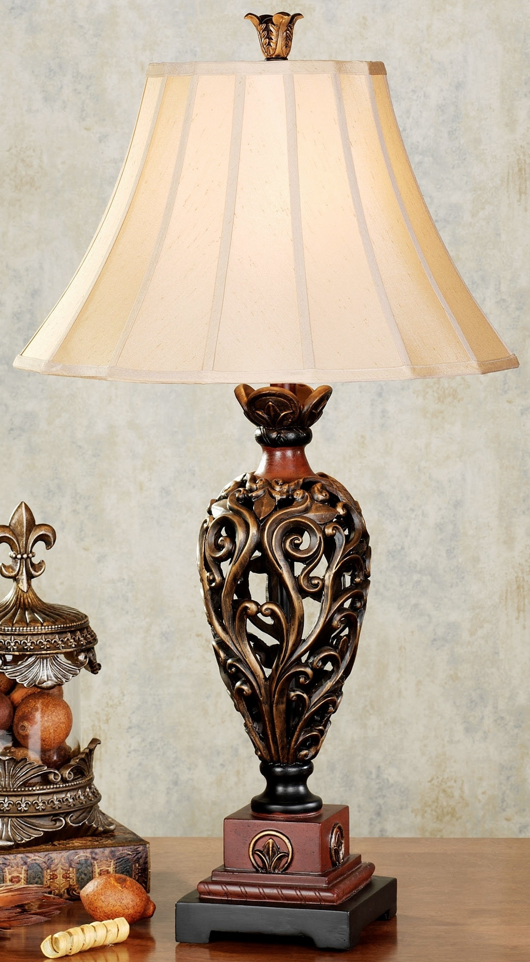 Current A Ordable Ebay Antique Lamps Gilt Table Slag Glass Vintage Accent Inside Table Lamps For Living Room At Ebay (View 9 of 15)