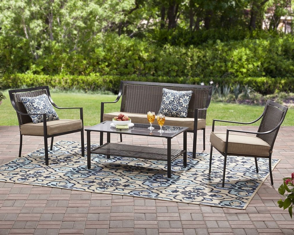 Current Ebay Patio Conversation Sets Pertaining To Garden 7Pc Metal Conversation Pillows Set Outdoor Coffee Table (View 3 of 15)