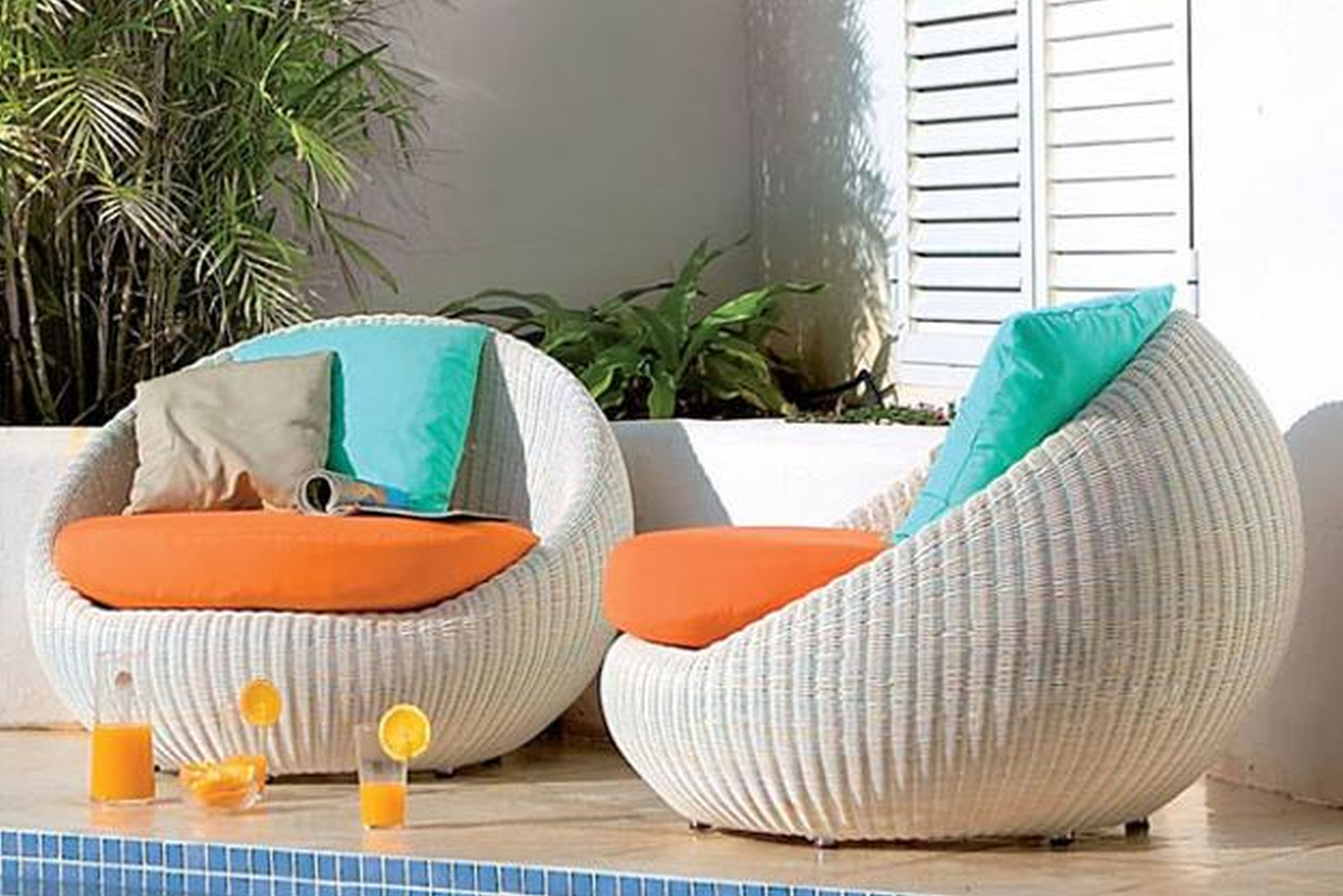 Current Modern Patio Conversation Sets Pertaining To White Rattan Outdoor Lounge Furniture – Outdoor Designs (View 7 of 15)