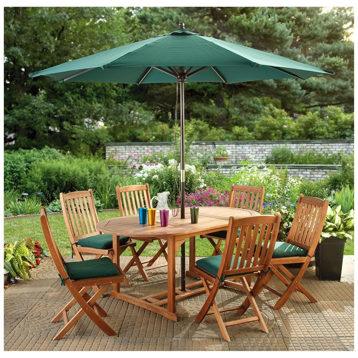 Current Patio Conversation Sets With Umbrella In Patio Furniture With Umbrella Ideas : Sathoud Decors – Decorating (View 3 of 15)
