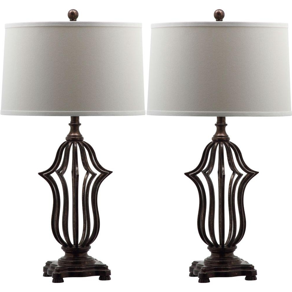 Current Set Of 2 Living Room Table Lamps Pertaining To Safavieh Chloe Sculpture 30.5 In (View 6 of 15)