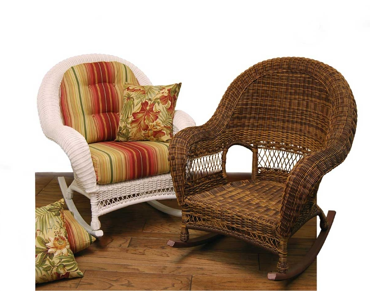 Cushion : Hampton Bay Spring Haven Brown All Weather Wicker Outdoor With Most Up To Date Indoor Wicker Rocking Chairs (View 4 of 15)