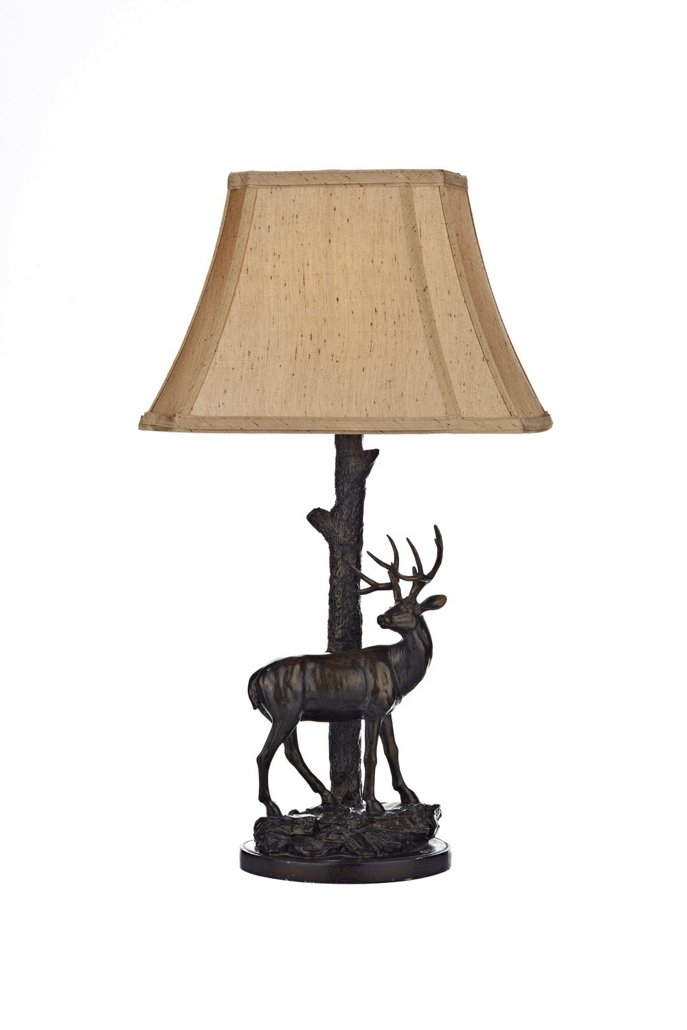 Dar Lighting Gul5522/x Gulliver Deer Table Lamp Complete With Shade For Most Current Bronze Living Room Table Lamps (View 11 of 15)