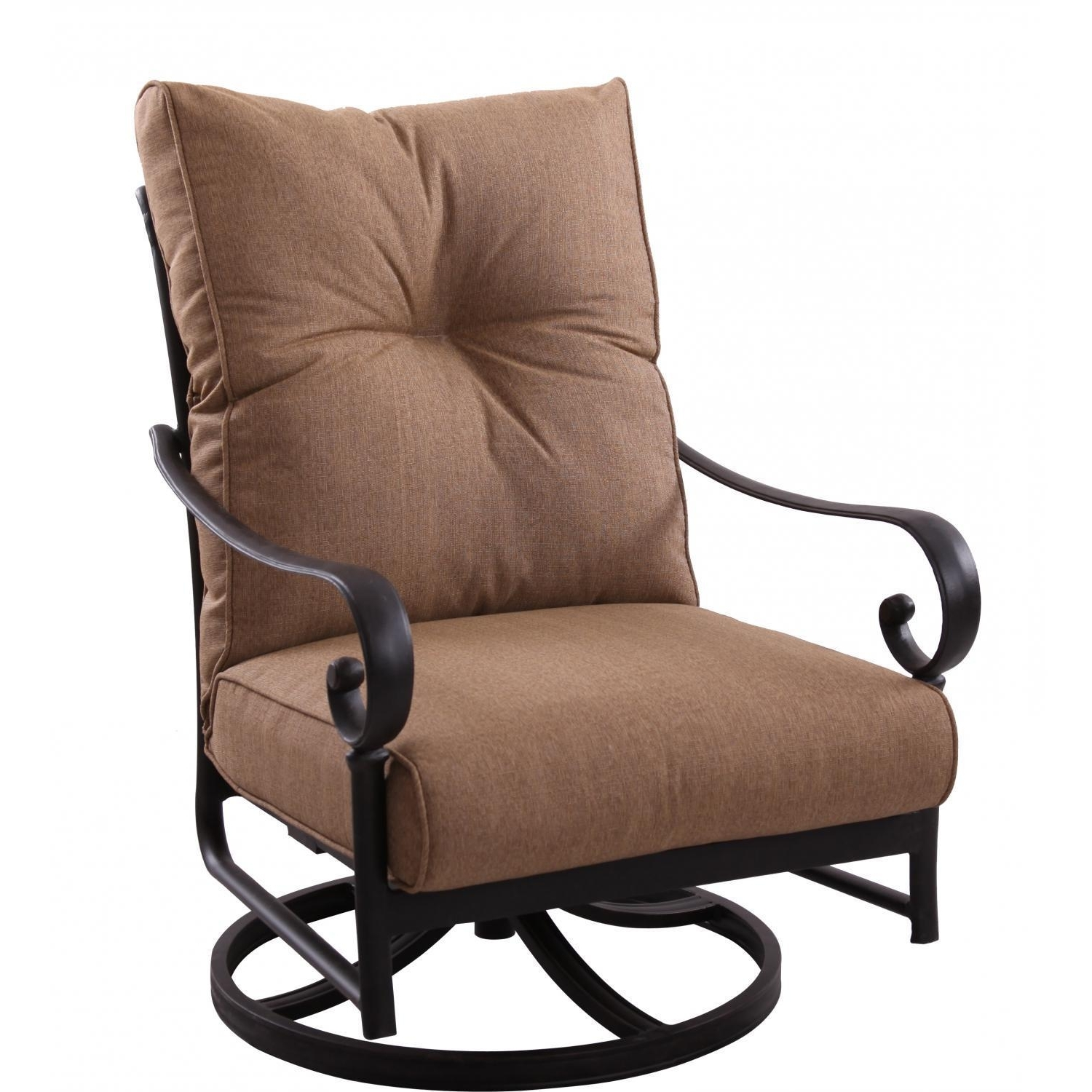 Darlee Santa Anita Cast Aluminum Patio Swivel Rocker Club Chair In Most Up To Date Rocking Chairs For Patio (View 8 of 15)