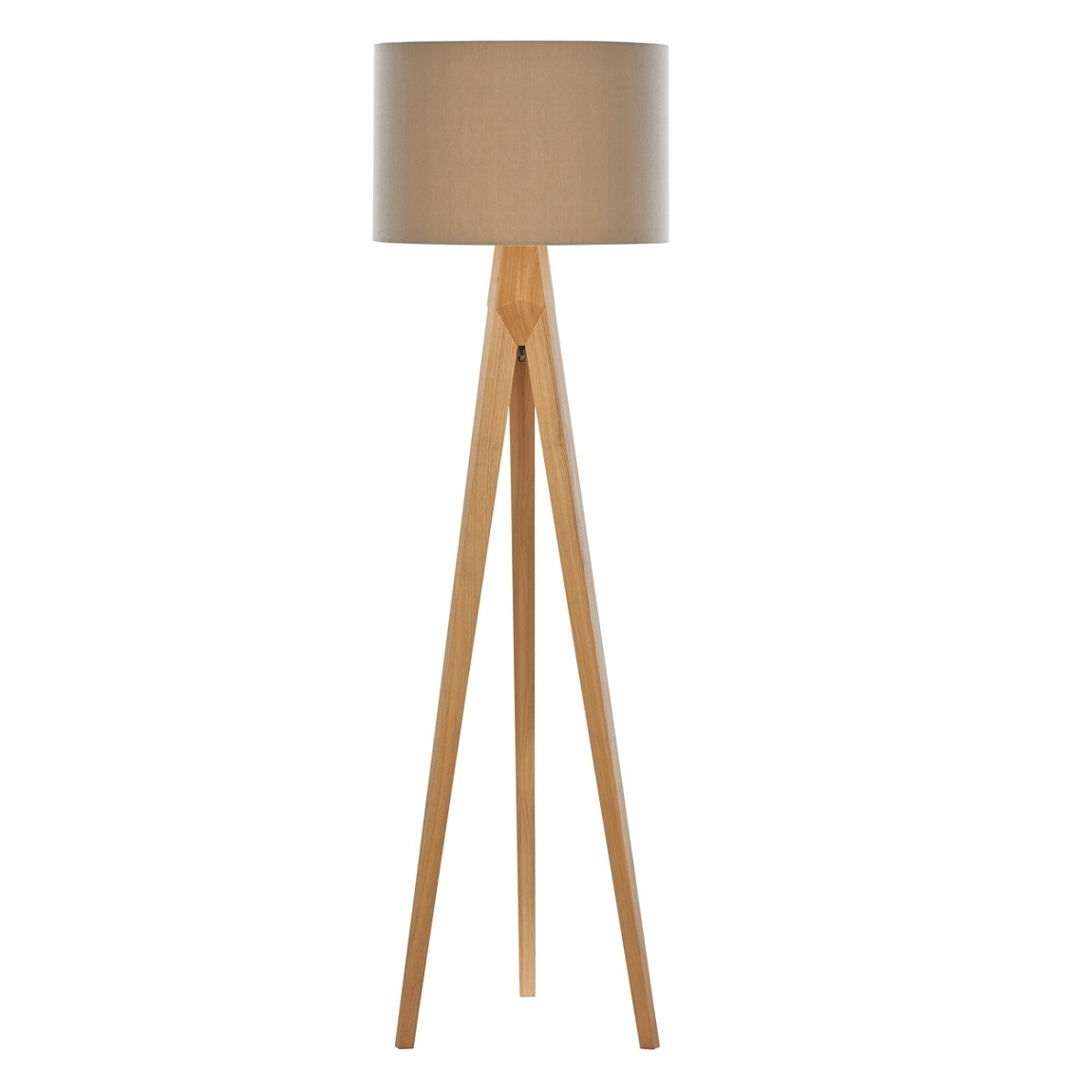 Debenhams Home Collection 'hudson' Wooden Tripod Floor Lamp Living With Regard To Trendy Debenhams Table Lamps For Living Room (View 9 of 15)