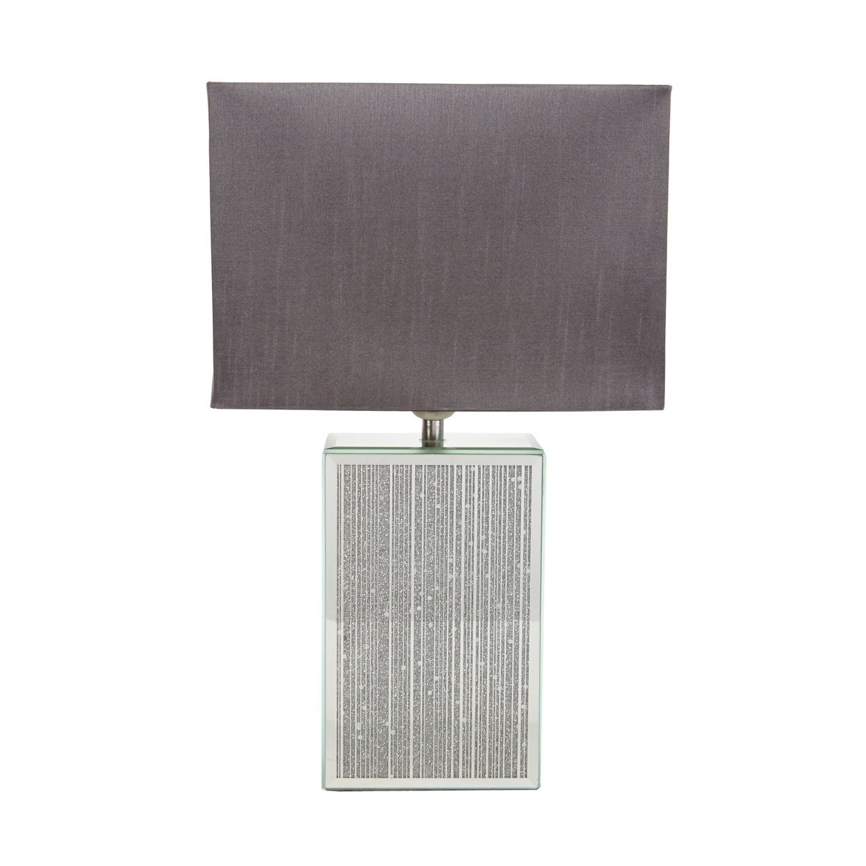 Debenhams Table Lamps For Living Room Pertaining To Latest Starjulien Macdonald Designer Glass Glitter Striped Lamp  At (View 4 of 15)