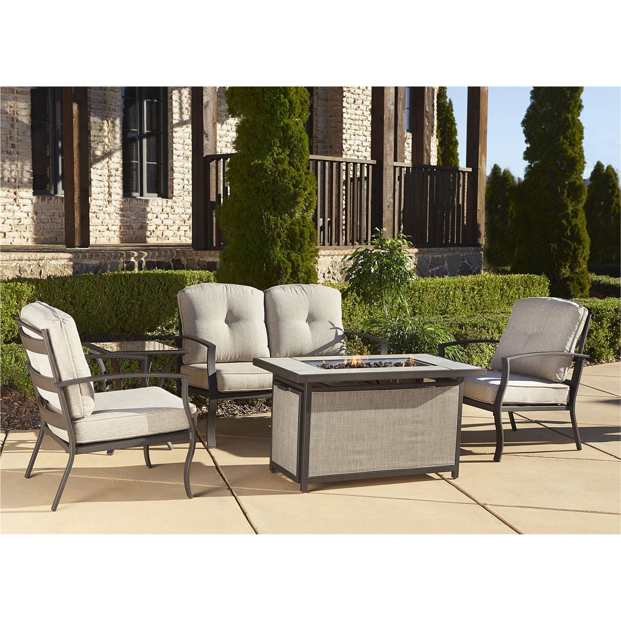 Dot Patio Conversation Sets Within Well Known Cosco Outdoor 5 Piece Serene Ridge Aluminum Patio Furniture (View 6 of 15)