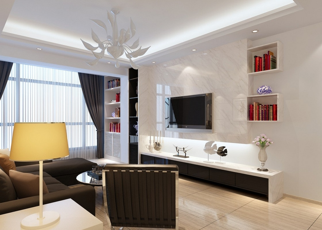 Download 3D House Inside Fashionable Elegant Living Room Table Lamps (View 11 of 15)