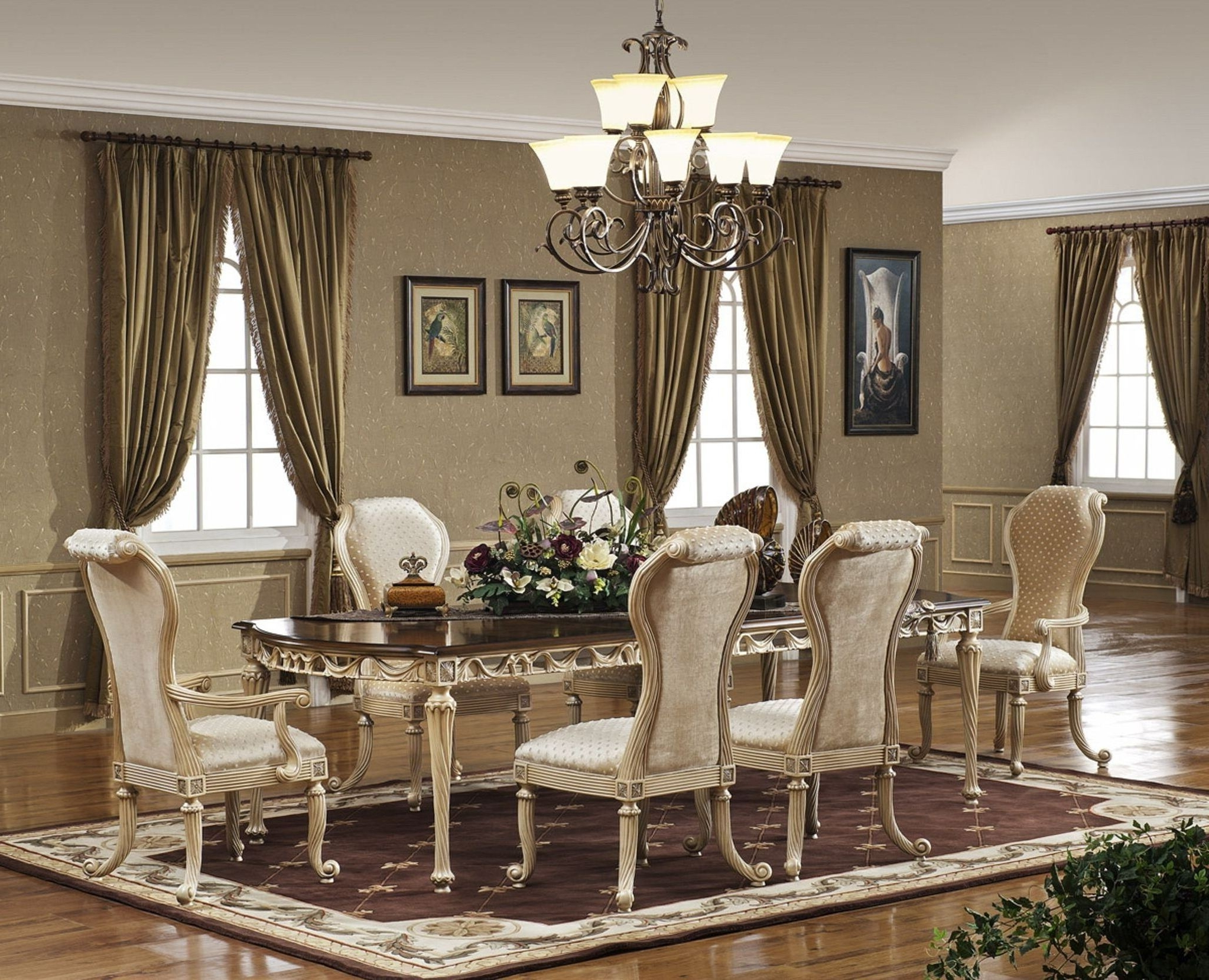 Elegant Living Room Table Lamps With 2017 Dining Table Rug Walmart Rectangle Brown Minimalist Varnished Wood (View 10 of 15)