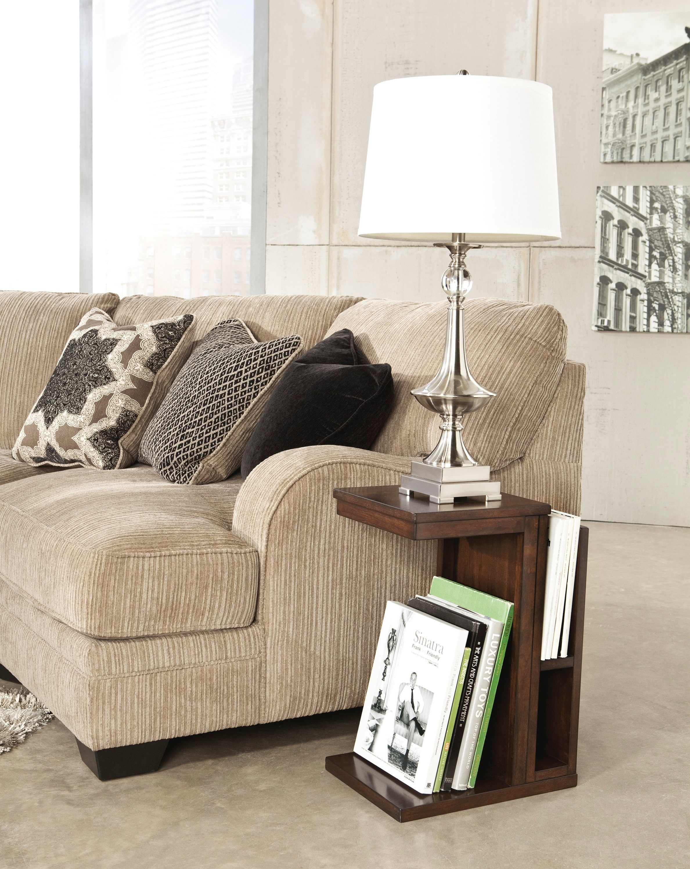 End Tables : Living Room Modern End Table Lamp Design With White for Well-liked Living Room End Table Lamps