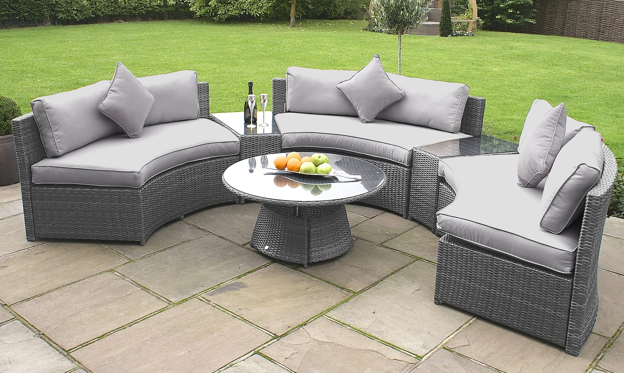 Enormous Gray Wicker Outdoor Furniture Attractive Grey Patio Fresh With Well Known Grey Patio Conversation Sets (View 3 of 15)