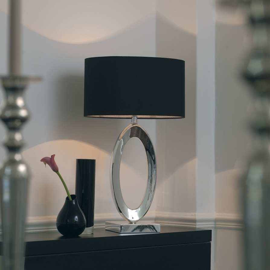 Excellent Ideas Silver Table Lamps Living Room Table Lamp For Popular Black Living Room Table Lamps (Gallery 1 of 15)