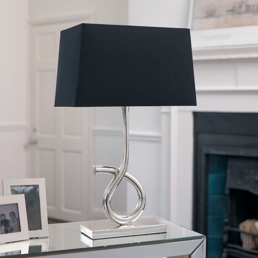 Famous Black Living Room Table Lamps With Regard To Fashionable Lamp Shades For Table Lamps Silver Table Lamps Living (View 3 of 15)