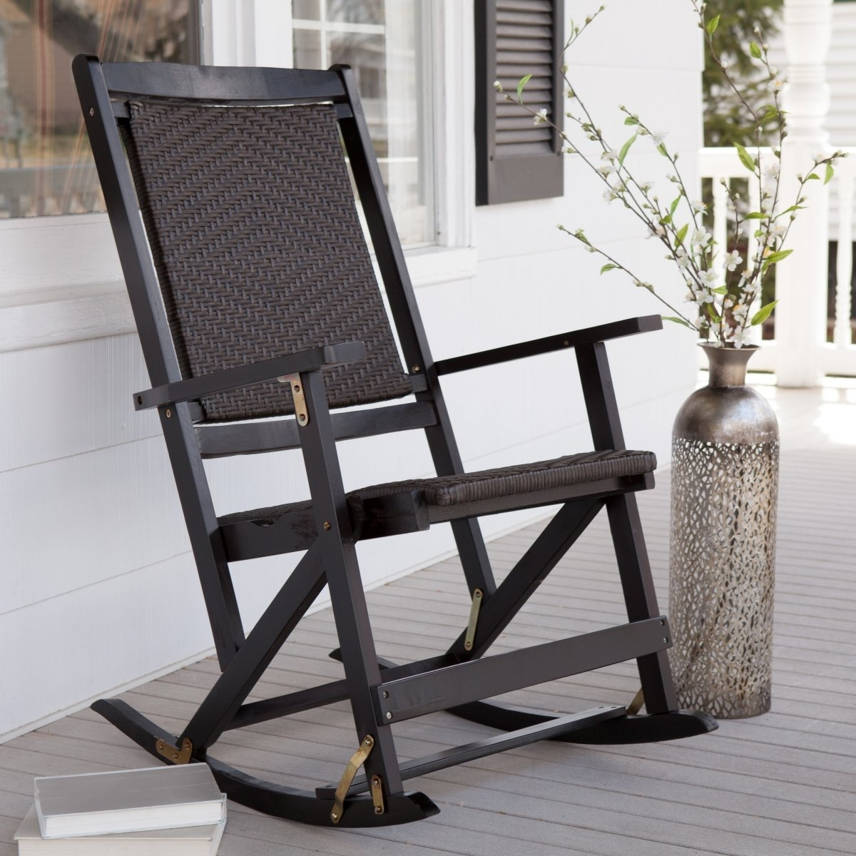 Famous Black Patio Rocking Chairs With Phenomenal Black Rocking Chair About Remodel Small Home Decoration (View 7 of 15)