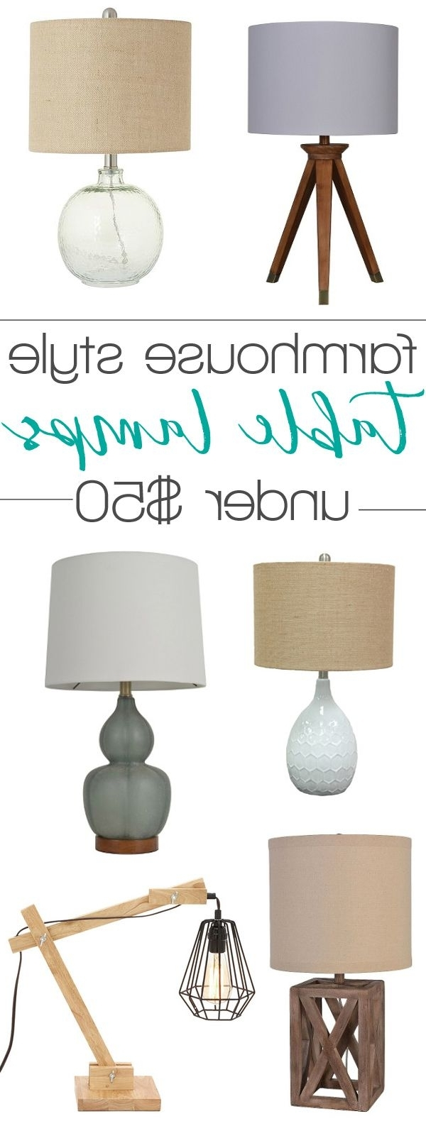 Famous Country Style Living Room Table Lamps Throughout Farmhouse Style Lamps Under $ (View 7 of 15)