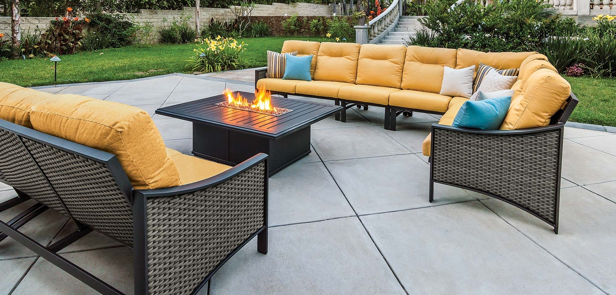 Famous Engaging Cheap Patio Sectional 13 Outdoor Sofa Furniture All Weather Throughout Inexpensive Patio Conversation Sets (View 4 of 15)
