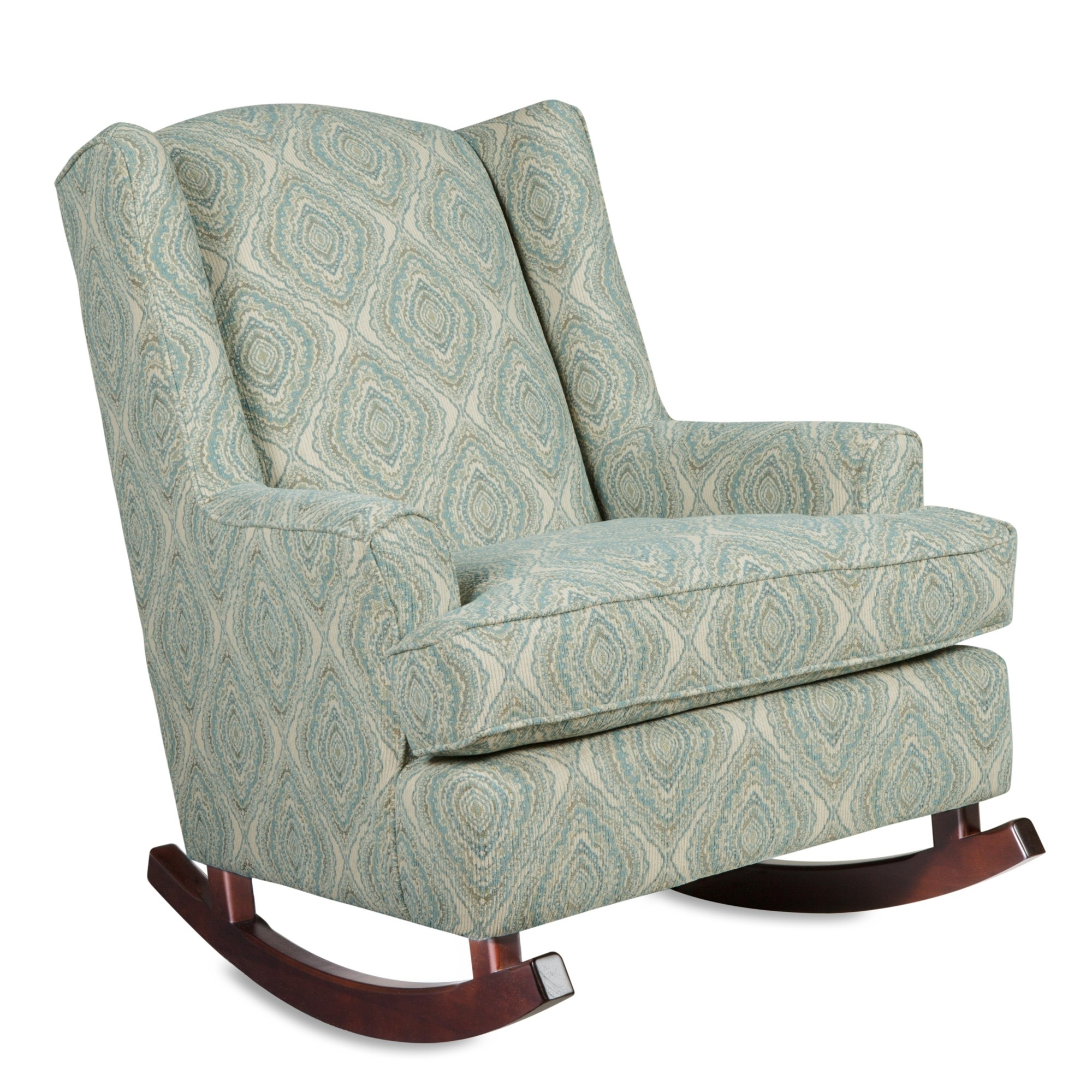 Famous Ottomans : Chairs Glider Rocker Chair Ottoman With Panda Doll With Upholstered Rocking Chairs (View 2 of 15)