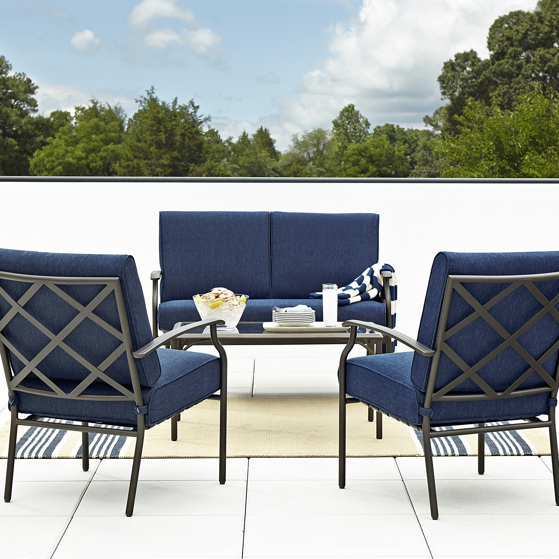 Famous Patio Conversation Sets At Sears Pertaining To Patio: Home Depot Furniture (View 2 of 15)