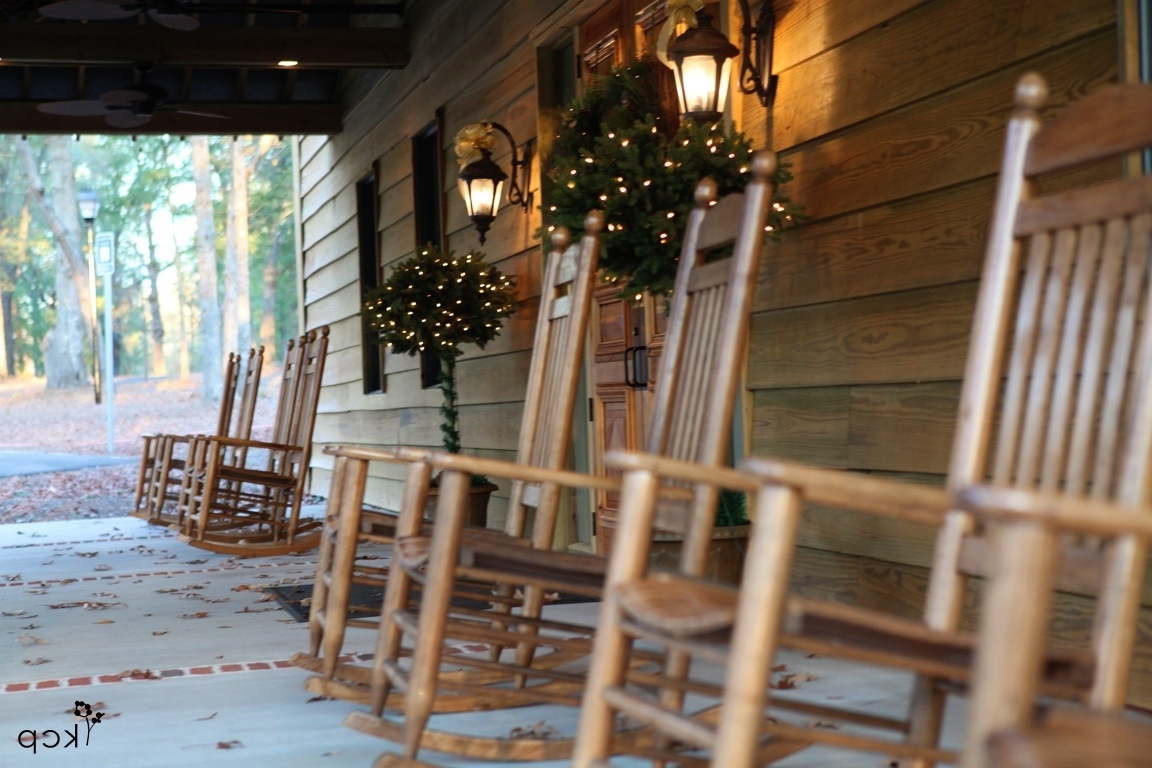 Famous Rocking Chairs For Front Porch Intended For Front Porch Rocking Chairs – The Belle House (View 6 of 15)