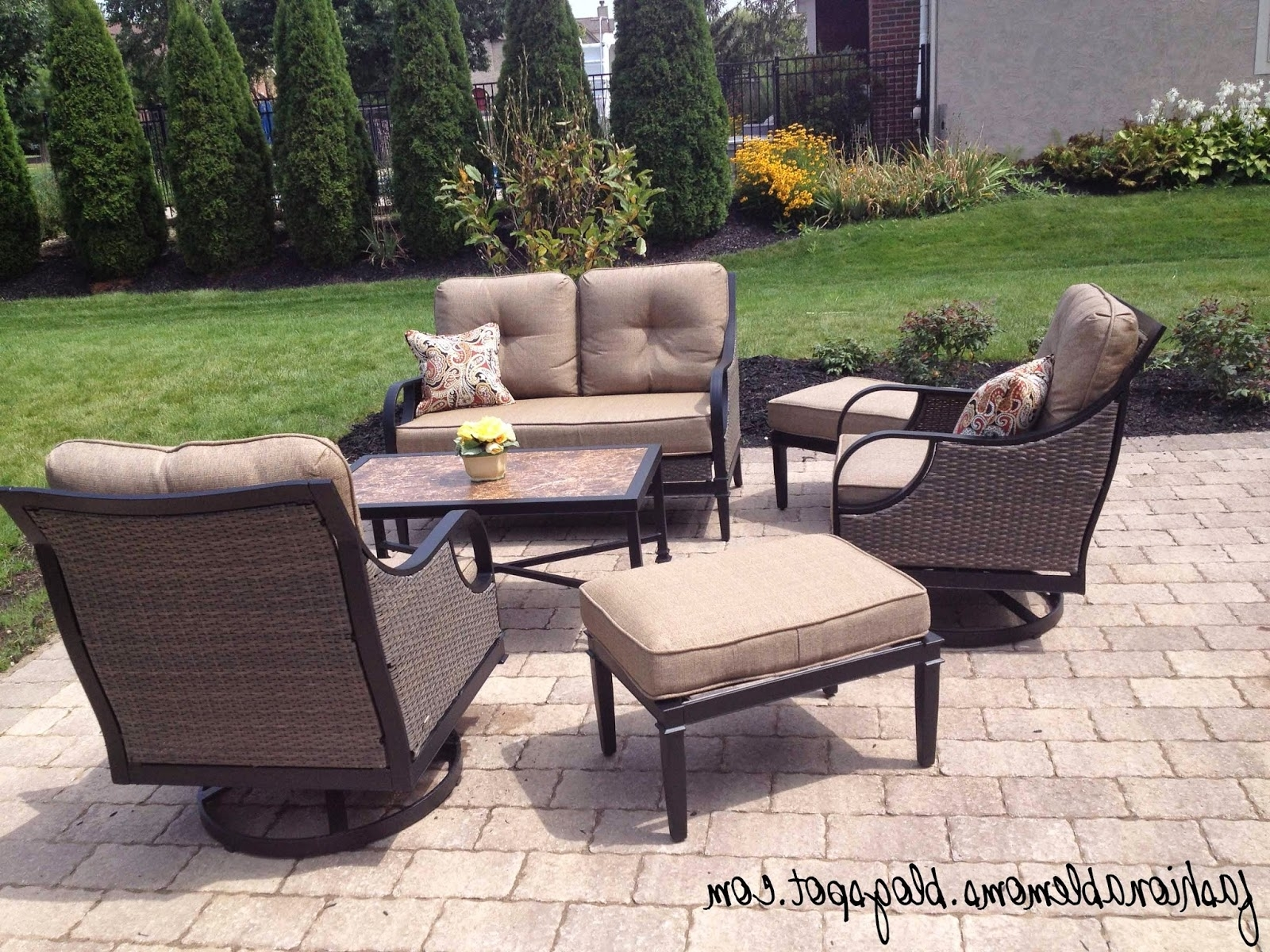 Famous Sears Outdoor Furniture Cushions – Outdoor Designs Intended For Lazy Boy Patio Conversation Sets (View 4 of 15)