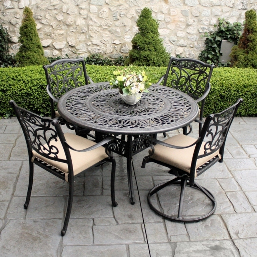 Fashionable Amazing Of Wrought Iron Patio Set Remarkable Wrought Iron Outdoor Intended For Wrought Iron Patio Conversation Sets (View 3 of 15)