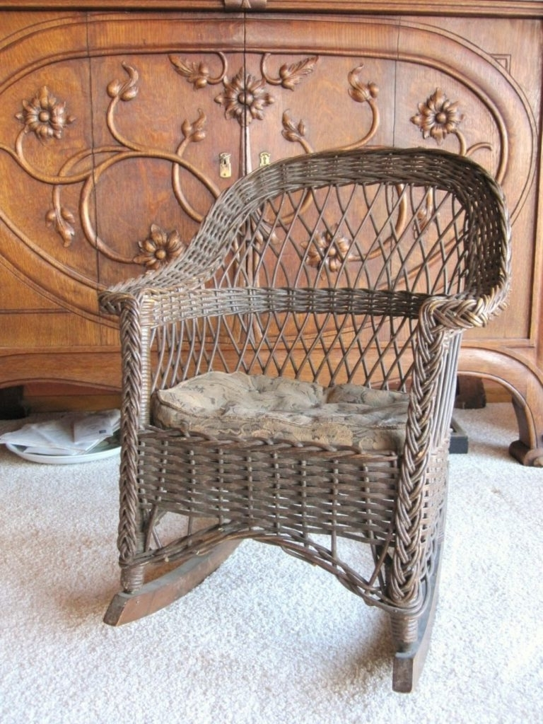 Fashionable Chair Design Ideas Best Vintage Wicker Chairs Home Antique Cane Regarding Antique Wicker Rocking Chairs With Springs (View 5 of 15)
