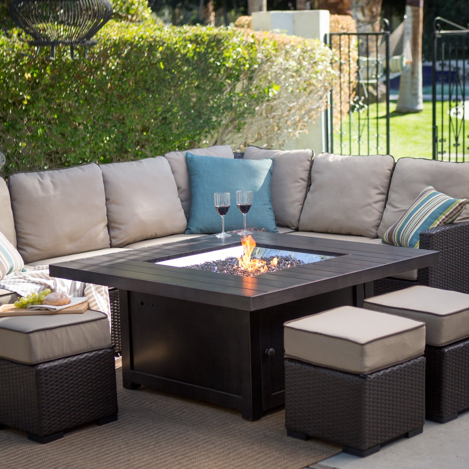 Fashionable Furniture: High Quality Patio Furniture Columbus Ohio And Fire Pit For Conversation Patio Sets With Outdoor Sectionals (View 6 of 15)