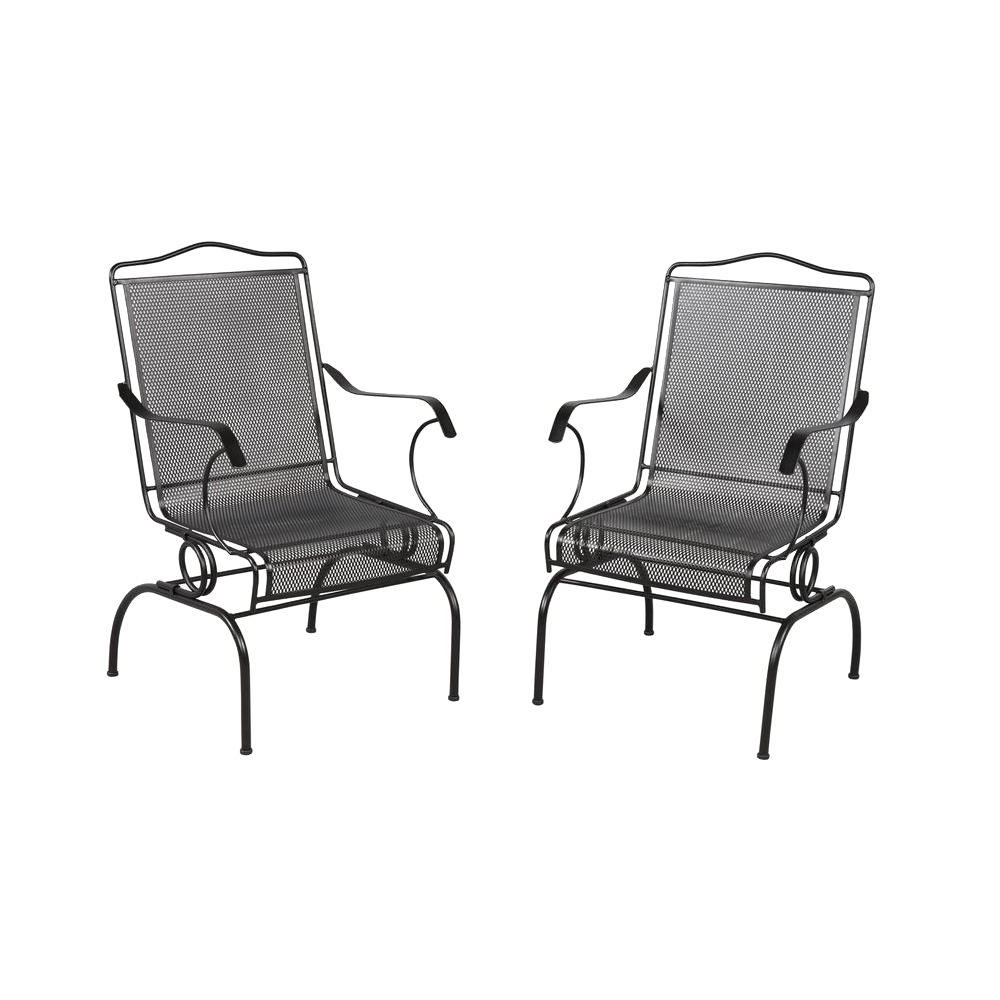 Fashionable Iron Rocking Patio Chairs Regarding Metal Patio Furniture – Patio Chairs – Patio Furniture – The Home Depot (View 3 of 15)