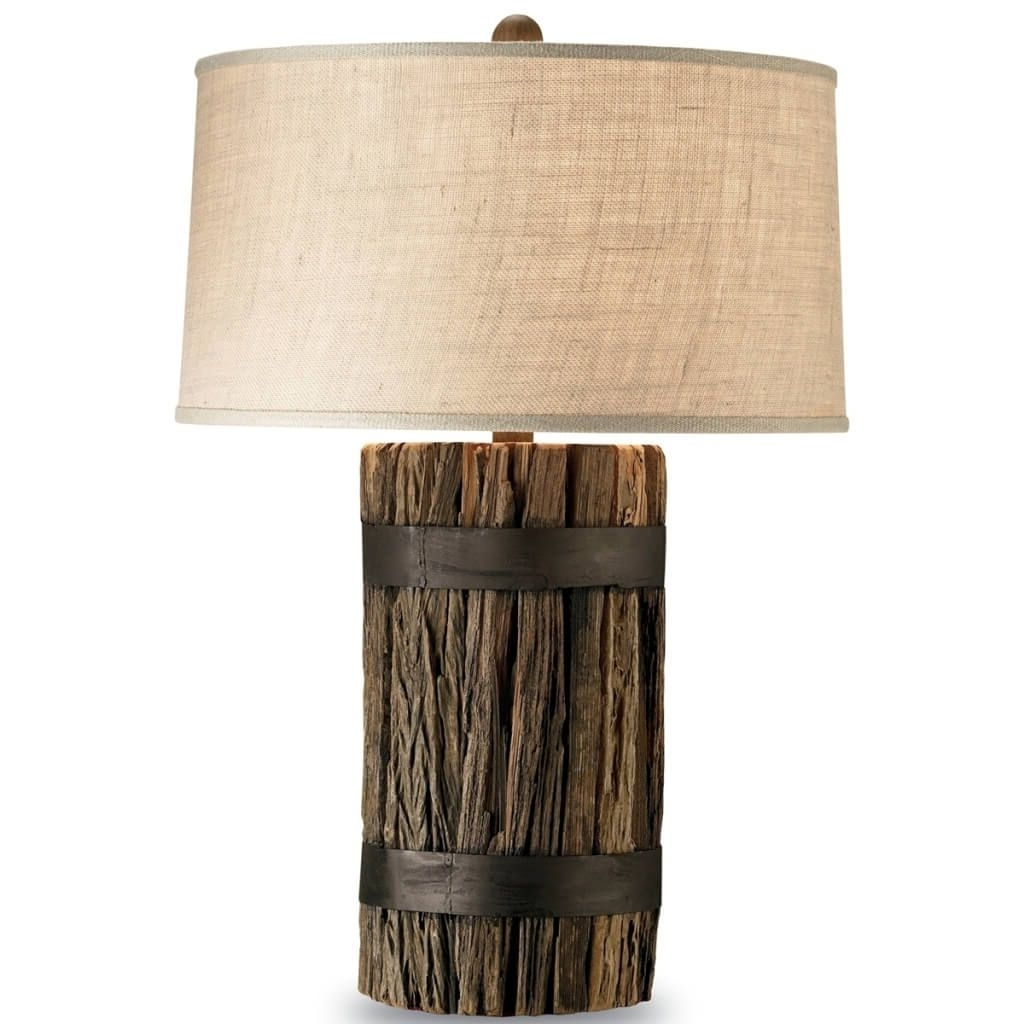 Fashionable Lighting: Cheap Rustic Wood Table Lamp Ideas With Empire Shade On Within Wood Table Lamps For Living Room (View 4 of 15)