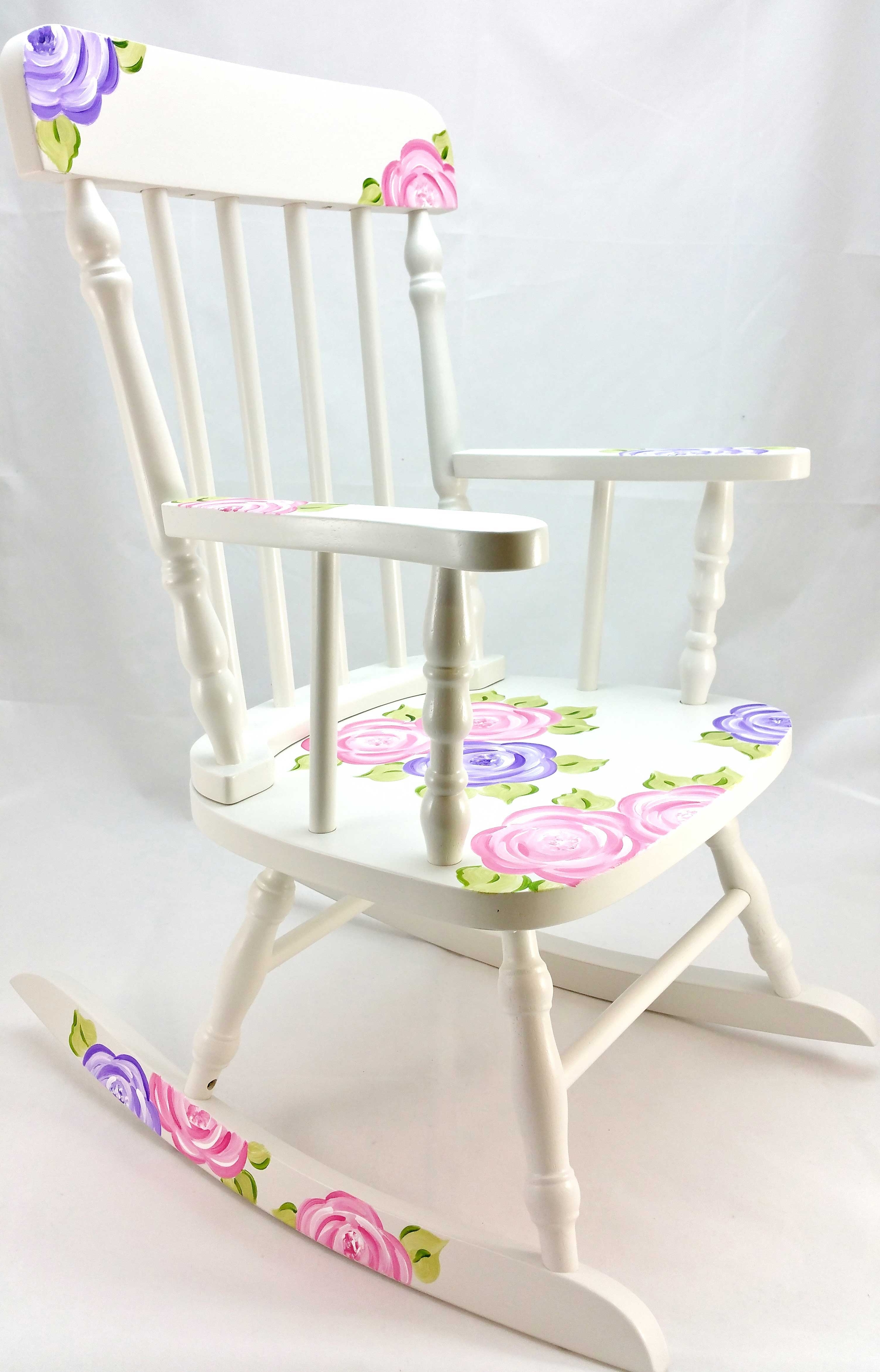 Fashionable Mod Roses Personalized Rocking Chair – Purple Pumpkin Gifts Throughout Rocking Chairs At Roses (View 4 of 15)