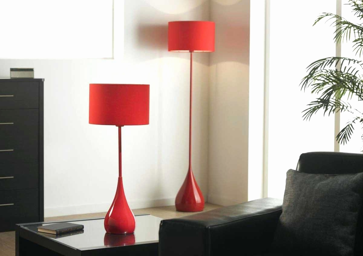 Fashionable Red Living Room Table Lamps Pertaining To Lamp : Red Table Lamps Set For Living Room Family Modern Bedroom (View 3 of 15)