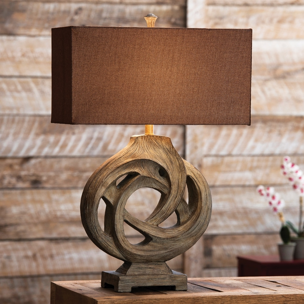 Fashionable Rustic Living Room Table Lamps Intended For Rustic Table Lamps Infinity Branch Table Lamp – Lighting And Chandeliers (View 14 of 15)