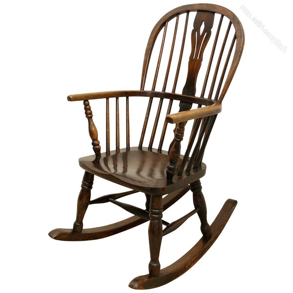 Fashionable Victorian Rocking Chairs Inside Victorian Windsor Rocking Chair – Antiques Atlas (View 5 of 15)