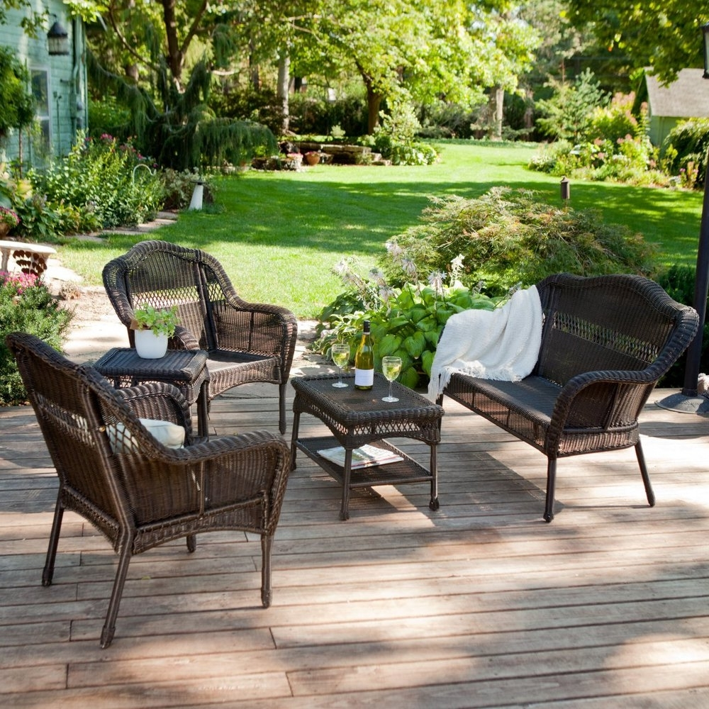 Fashionable Wicker Patio Furniture Sets Care : Sathoud Decors – Wicker Patio Pertaining To Resin Wicker Patio Conversation Sets (View 6 of 15)