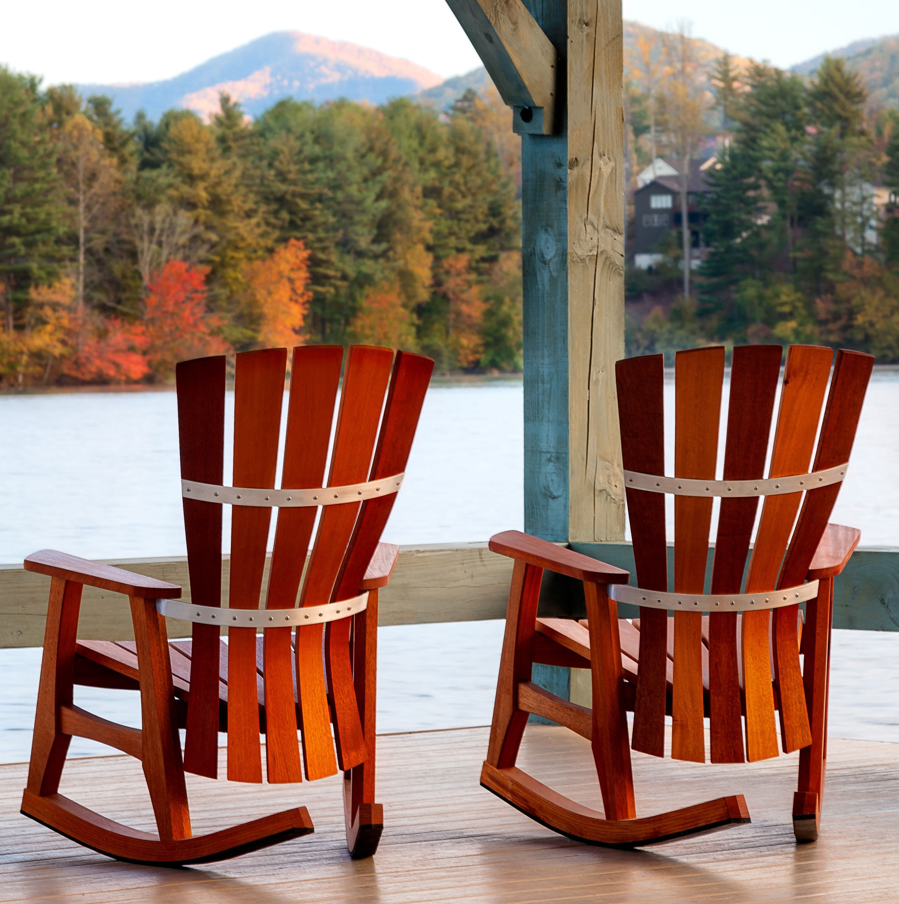Favorite All Weather Patio Rocking Chairs With Patio Furniture Rocking Chair Fibreglass Iron And Birch Material (View 7 of 15)