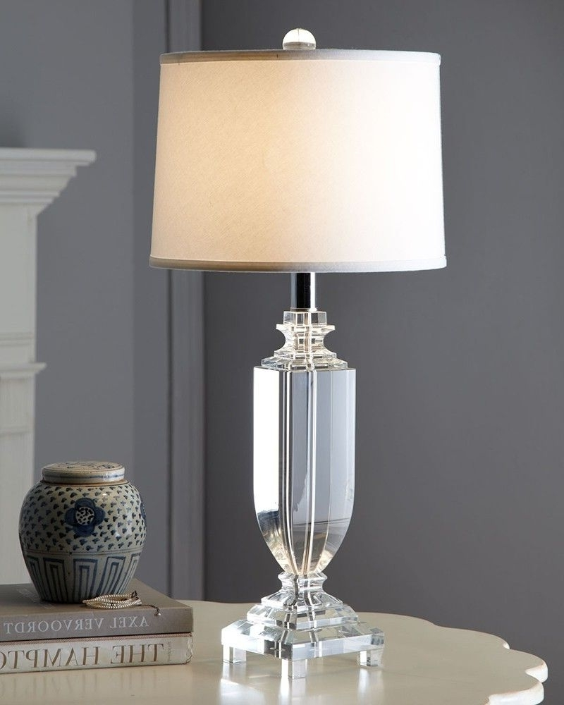 Featured Photo of Clear Table Lamps For Living Room