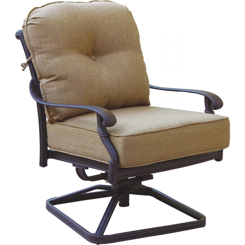 Favorite Darlee Santa Monica Cast Aluminum Patio Swivel Rocker Club Chair with regard to Patio Rocking Swivel Chairs